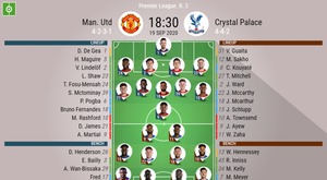 Man Utd v C Palace, Premier League 2020/21, 19/9/2020, matchday 2 - Official line-ups. BESOCCER