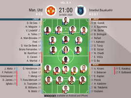 Man Utd v Istanbul, UCL matchday 4, 24/11/2020. Official.line.ups. BeSoccer