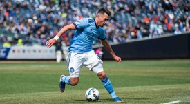 Harrison playing for New York City. Twitter/MCFC