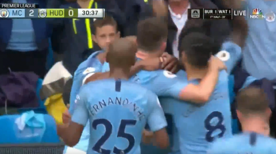 Both Jesus and Aguero struck against the 'Terriers'. Screenshot