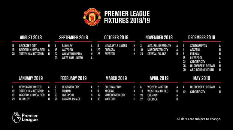 Wolves Vs Man United Wallpaper: Premier League 18-19 Fixture Guide: Manchester United