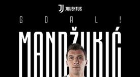 Mandzukic scores. Twitter/JuventusFC