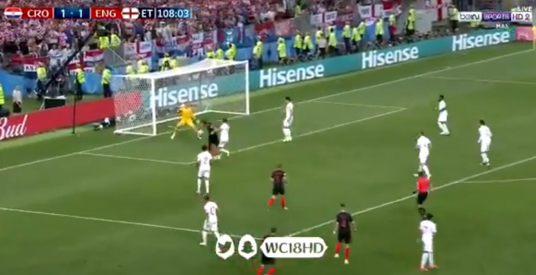 Mandzukic fires home a second goal in extra time against England. BeInSport
