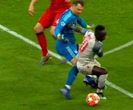 Mané deixou Neuer na saudade . Captura/Movistar