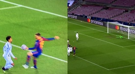 Cristiano Ronaldo scored from the spot. Screenshot/MovistarLigadeCampeones
