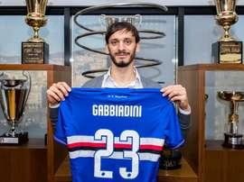 Gabbiadini, primer positivo en coronavirus en la Serie A. Twitter/Sampdoria