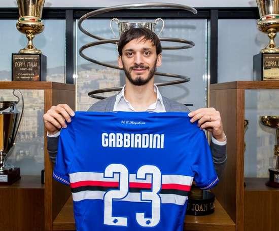 Manolo Gabbiadini has tested positive for coronavirus. Twitter/Sampdoria