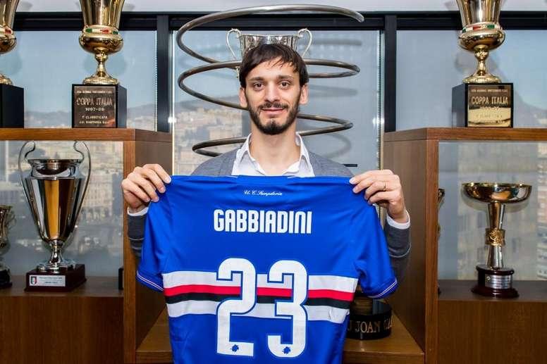 Gabbiadini anotó cuatro goles el pasado curso con la Sampodria. Twitter/sampdoria