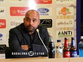 El técnico del Badalona sueña con el Madrid. CF_Badalona