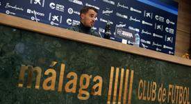 Manolo Sánchez habló en rueda de prensa. Twitter/MalagaCF