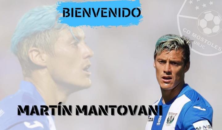 Mantovani llega al Móstoles procedente del Andorra. Captura/CDMostoles