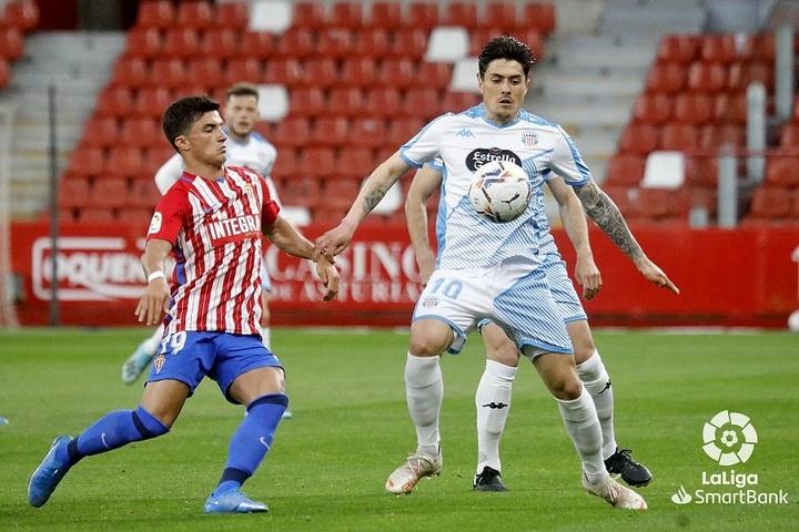 El Lugo y el Sporting cerraron sus pretemporadas el pasado sábado. LaLiga/Archivo
