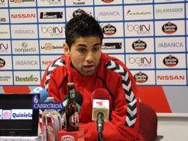 Manu sintió que por fin el fútbol fue justo con el Lugo ante el UCAM Murcia. EFE