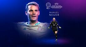 Manuel Neuer wins 19-20 best goalkeeper. UEFA