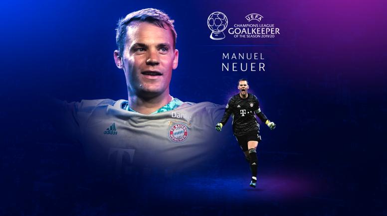 Neuer, mejor portero de la temporada para la UEFA. Captura/UEFA