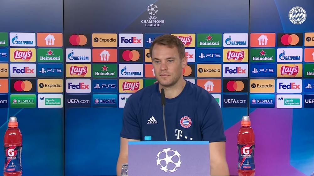 Neuer habló en rueda de prensa. Captura/FCBayern