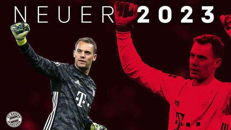 El Bayern y Neuer al fin se entendieron: seguirán de la mano hasta 2023. Twitter/FCBayern