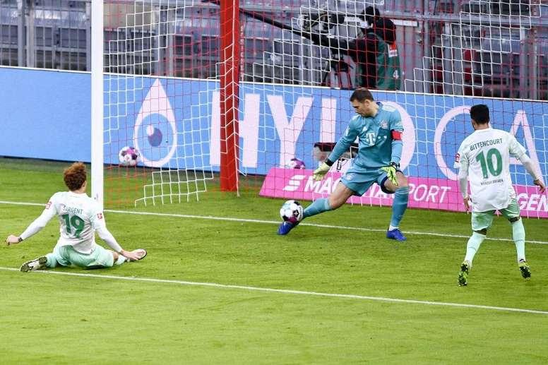 Neuer cumplía 400 partidos con el Bayern. EFE