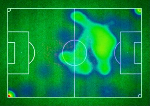 Mapa de calor de Leo Messi en el Clásico