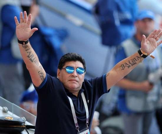El astro argentino acompañó al equipo desde el palco. Captura/ESPN