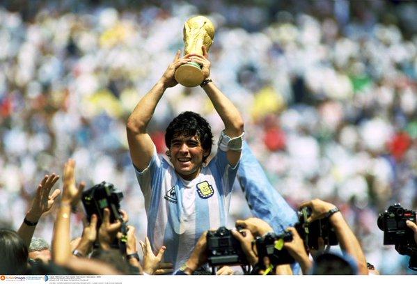 La légende du football argentin Diego Armando Maradona.