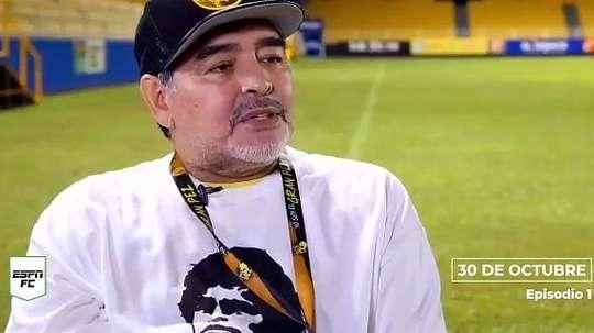 El Maradona más sincero. Captura/ESPN