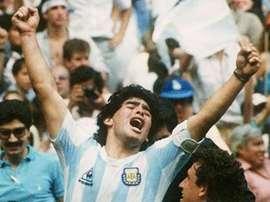 Edgardo Codesal disparou contra Maradona. AFP