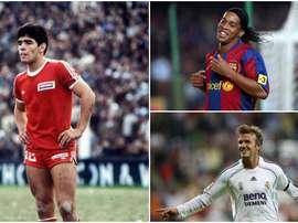 Maradona, Ronaldinho and Beckham. BeSoccer