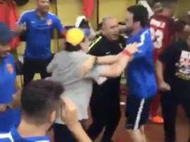 Maradona et Enrique, le tandem technique d'Al Fujairah. Twitter