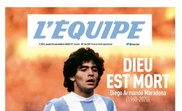 Storica copertina dell'Equipe. L'EQUIPE