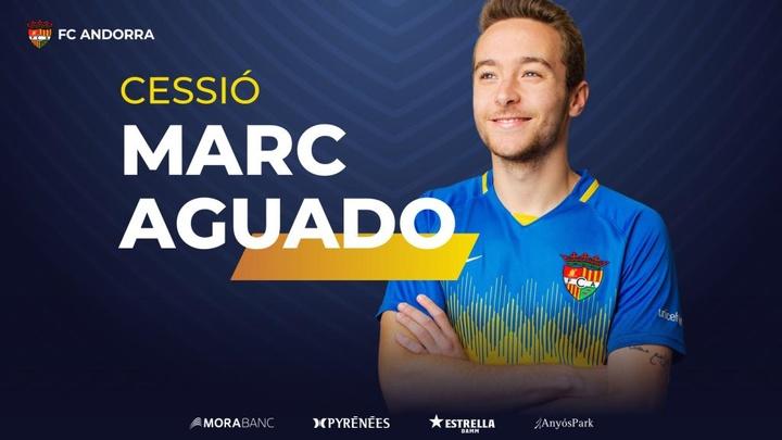 El Zaragoza cede de nuevo a Marc Aguado. Twitter/FCAndorra