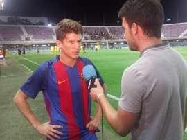 Marc Cardona anotó el segundo gol del encuentro. FCBarcelona