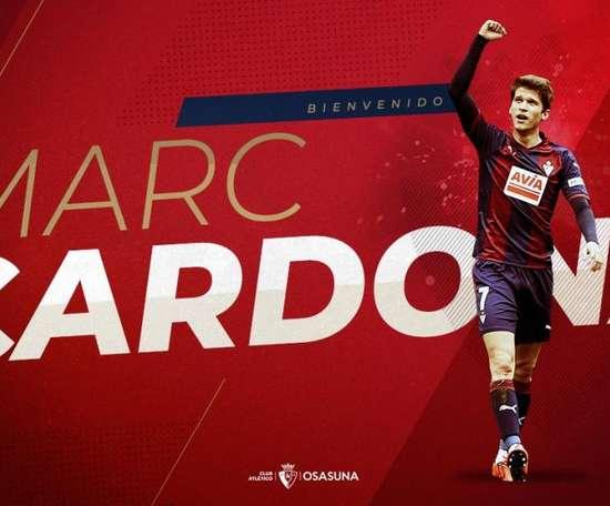 Marc Cardona. Twitter/CAOsasuna