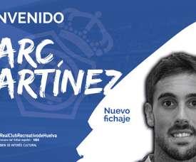 Marc Martínez, nuevo jugador del Recreativo. RecreOficial