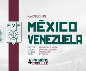 México perdió ante Venezuela. Twitter/miseleccionmx