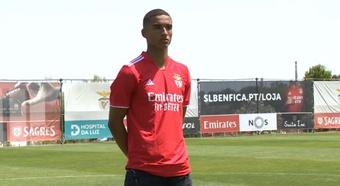 Marcel Mendes-Dudzinski llega al Benfica procedente de la Liga Polaca. Captura/SLBenfica