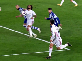 Marcelo's hair was pulled back, but it went unpunished. Screenshot/MovistarLaLiga