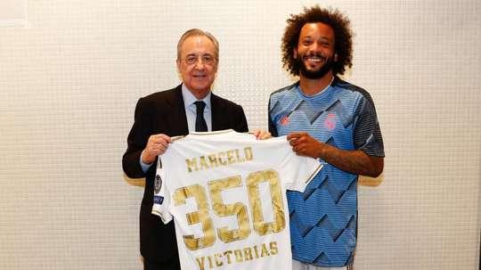 350 victoires avec le Real Madrid pour Marcelo. RealMadrid
