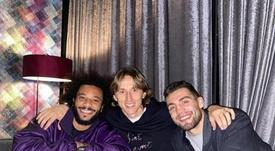 Zagreb se volcó con un Modric al que se rindieron estrellas del fútbol. Instagram/MarceloTwelve