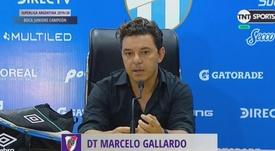 Gallardo criticó la actuación arbitral. Captura/TNTSportsLA