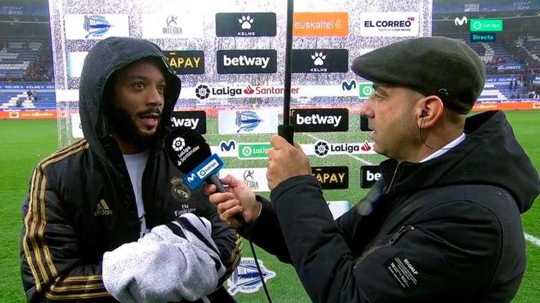 Marcelo foi peça chave para a partida. Captura/Movistar+LaLiga