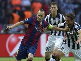 Le magnifique compliment d'Iniesta à Marchisio. AFP