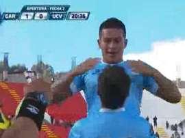 Marcio Valverde celebra un gol ante César Vallejo. PortalOvación