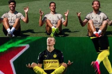 Les joueurs du Real Madrid la jouent comme Haaland. Captura/SergioRamos/ESPN