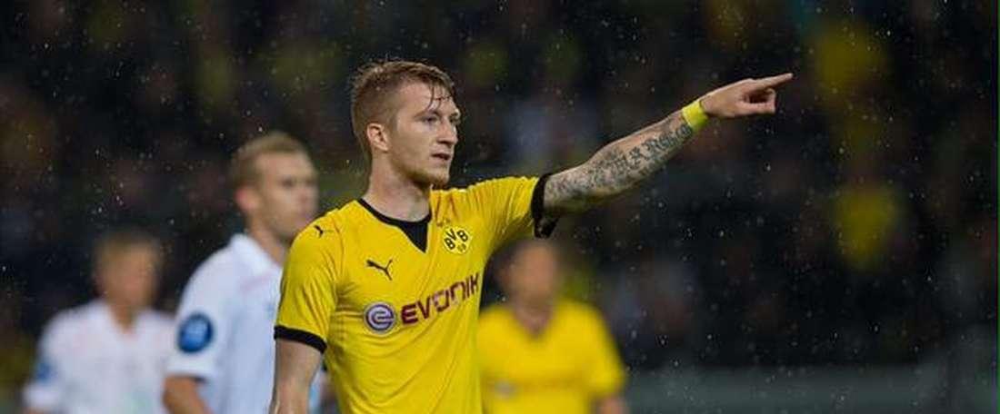 Marco Reus, del Borussia Dortmund, autor en la noche de hoy de un hattrick ante el Odd Grenland. Twitter