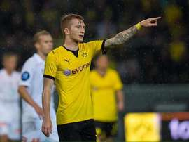 Marco Reus, of Borussia Dortmund, scoring a hattrick last night against Odd Grenland. Twitter