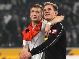 Reus y Marc-André Ter Stegen, cuando compartían equipo en el Borussia Mönchengladbach. AFP
