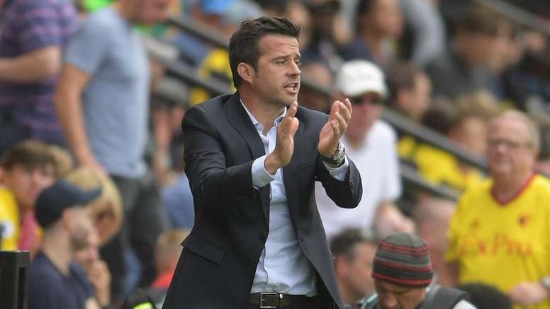 Silva was unhappy with Zeegelaar's 'harsh' red card against Burnley. Twitter/WatfordFC