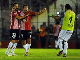 Marcos Díaz cumple contrato con Huracán en diciembre. EFE