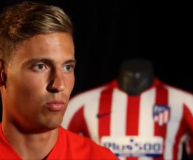 Llorente is excited to get going at Atleti. Captura/Atleti